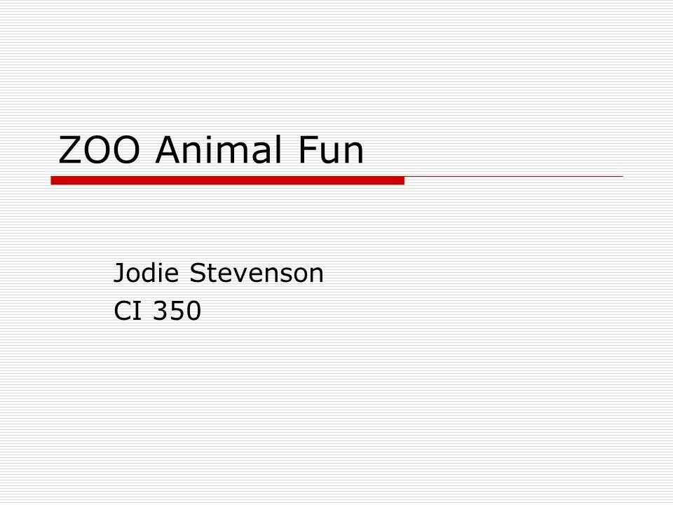 ZOO Animal Fun Jodie Stevenson CI 350