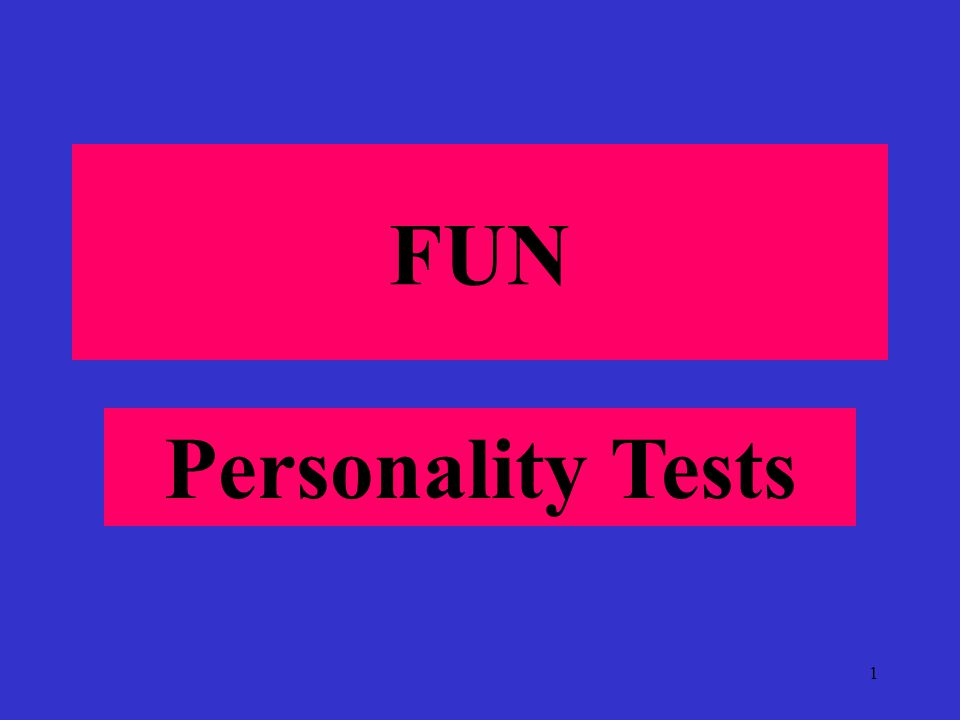 2 Personality Test I) 1- Think on the first three animals which you like most.