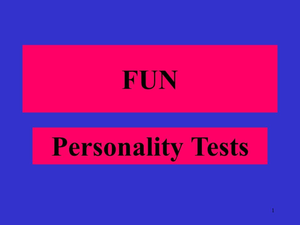 1 FUN Personality Tests