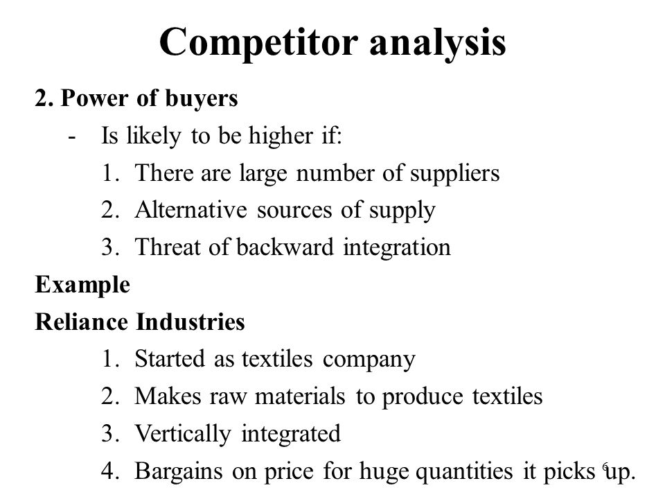 6 Competitor analysis 2.