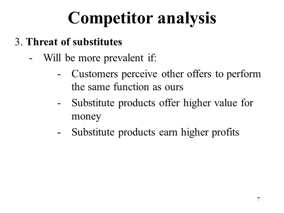 7 Competitor analysis 3.