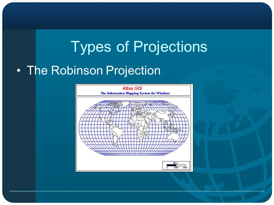 Types of Projections The Robinson Projection