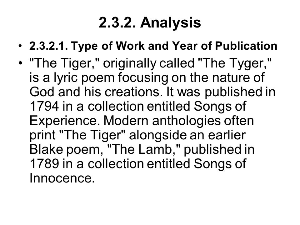 2.3.2. Analysis 2.3.2.1. Type of Work and Year of Publication