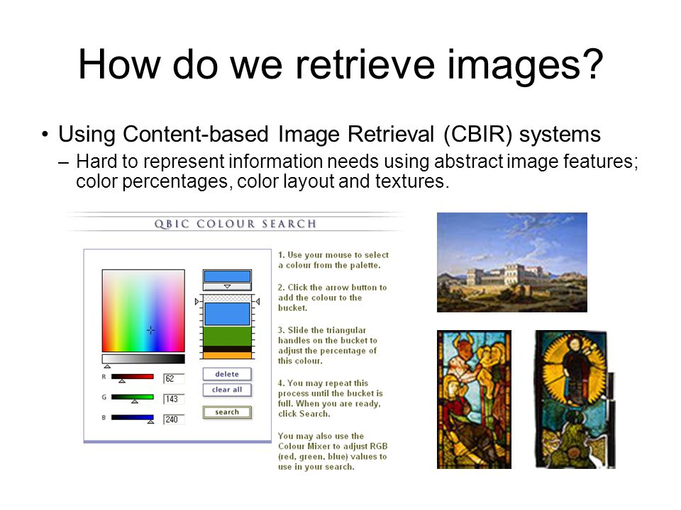How do we retrieve images.