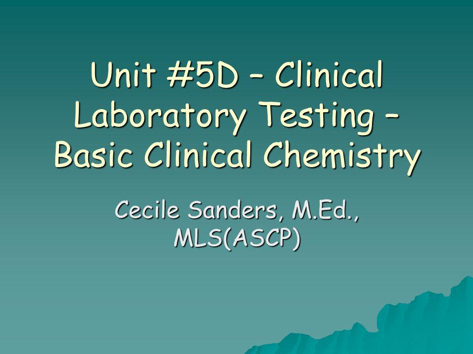 Unit #5D – Clinical Laboratory Testing - Basic Clinical Chemistry Photos of some clinical chemistry laboratories