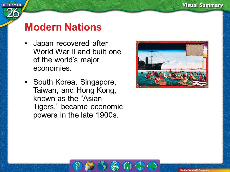 VS 2a Modern Nations Japan recovered after World War II and built one of the world's major economies.