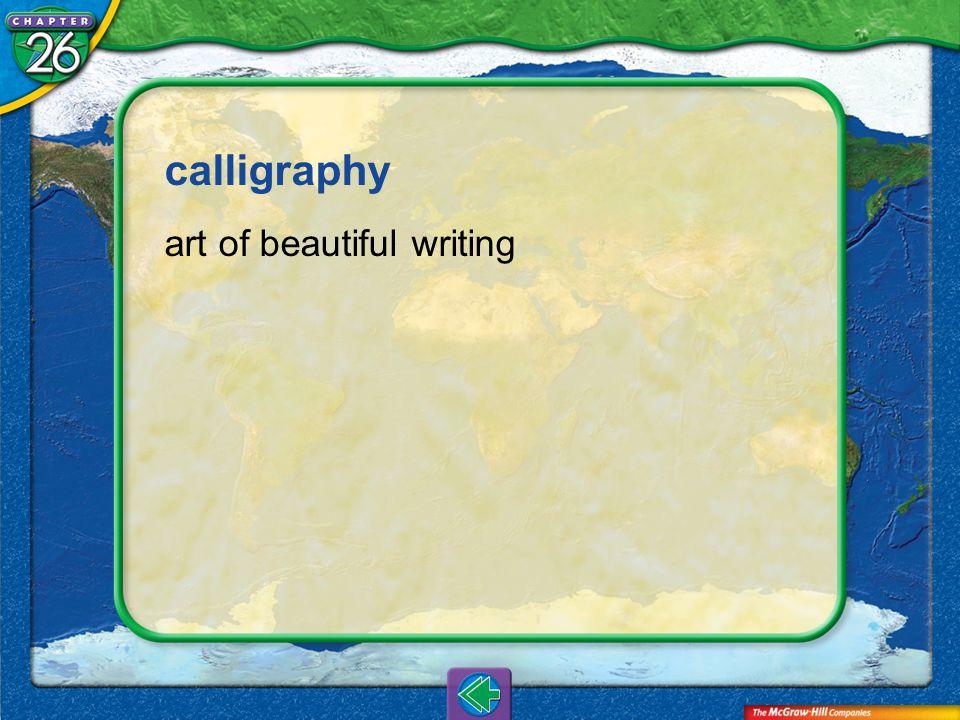 Vocab12 calligraphy art of beautiful writing