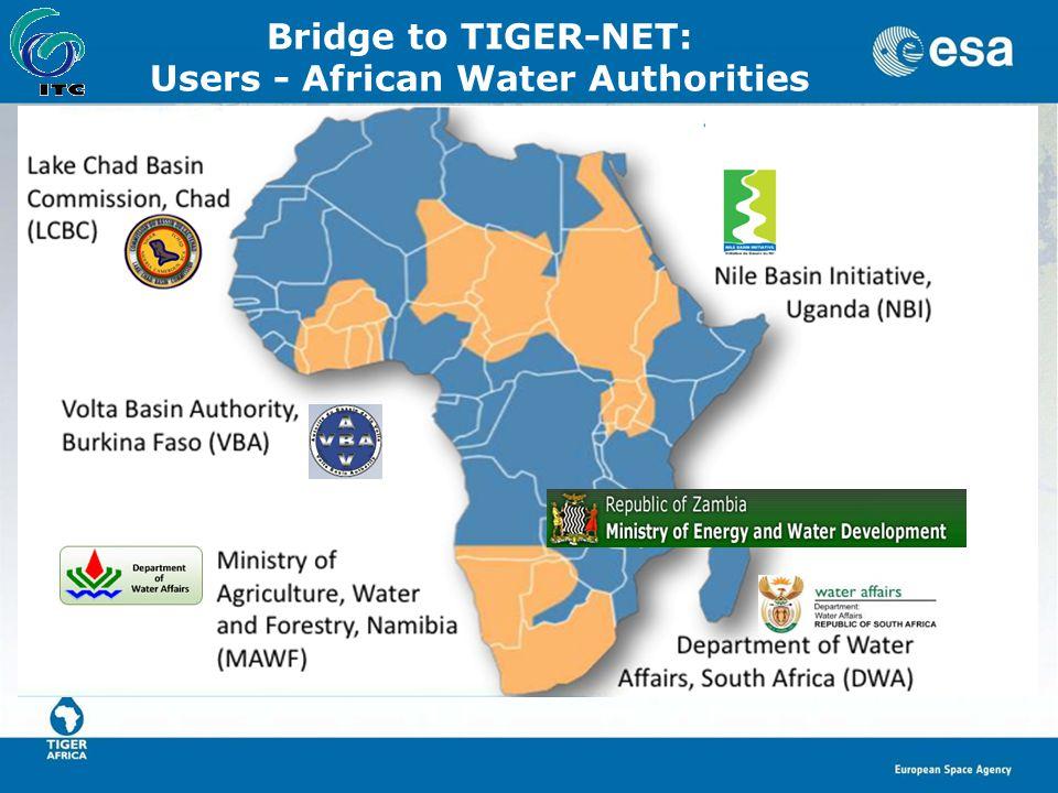 Bridge to TIGER-NET: Users - African Water Authorities