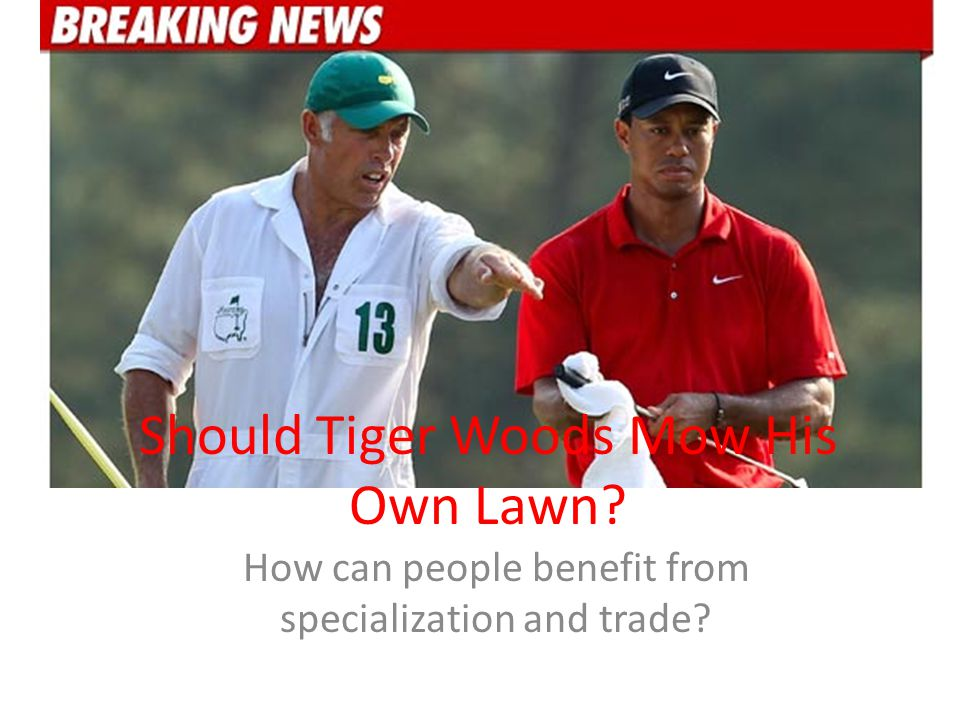 Should Tiger Woods Mow His Own Lawn? How can people benefit from specialization and trade?