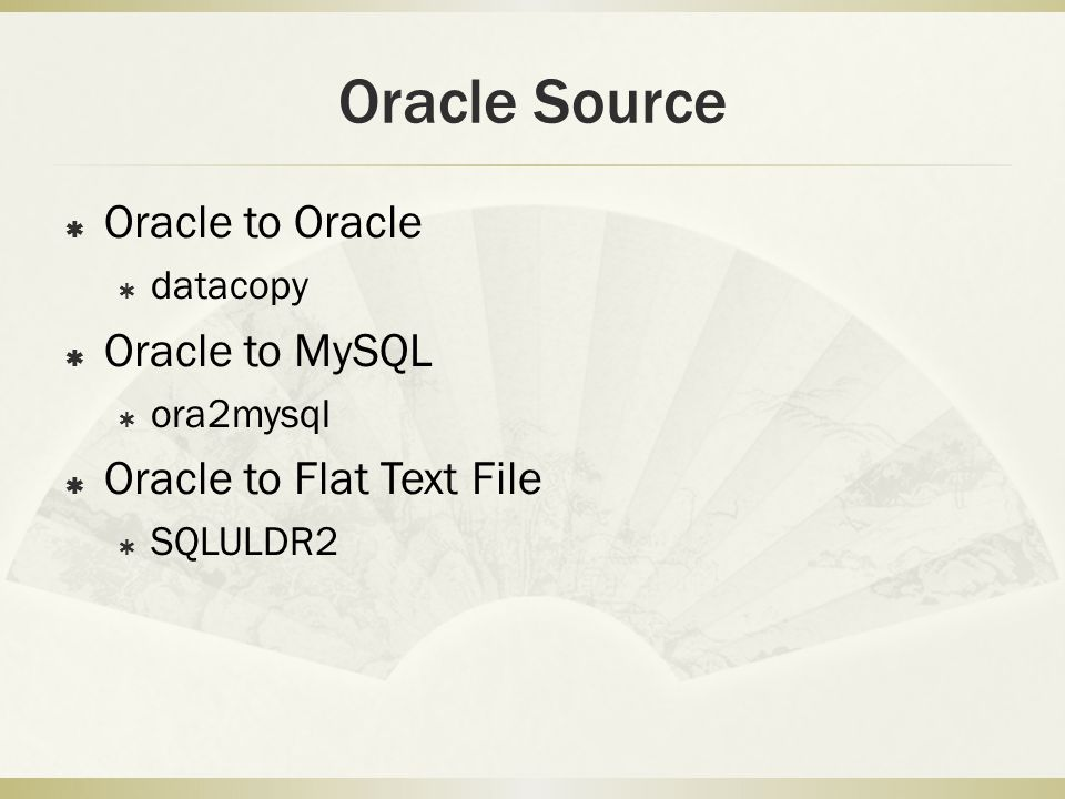 SQL*Loader Control File  SQL * Loader need a parameter file (describing the format of the flat file) to load flat text file into Oracle database.