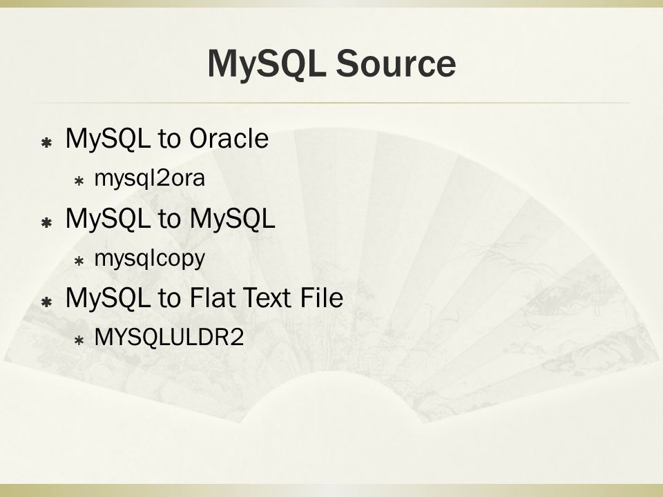 Basic Concept  Query on Source, DML on Target  Only Select Allowed on Source Database  Insert/Update/Delete/Script allowed on Target Database,  Refer source columns by : +column name  Query1/Table1 for Source SELECT Statement  Query2/Table2 for Target DML Statement  Basic Data Types Supported.