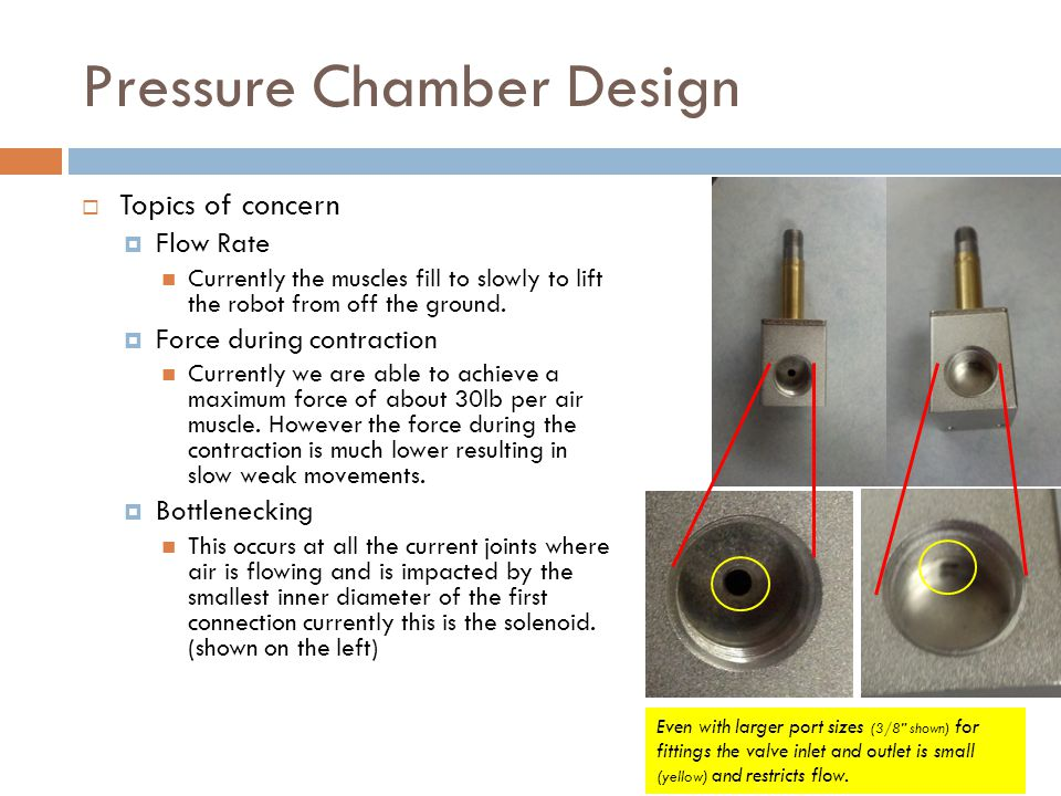 Proposed solution  Design to overcome obstacles  Use high flow rate valves The current solenoid valves shown on the previous slide do not have good flow rate as demonstrated in the YouTube videos.
