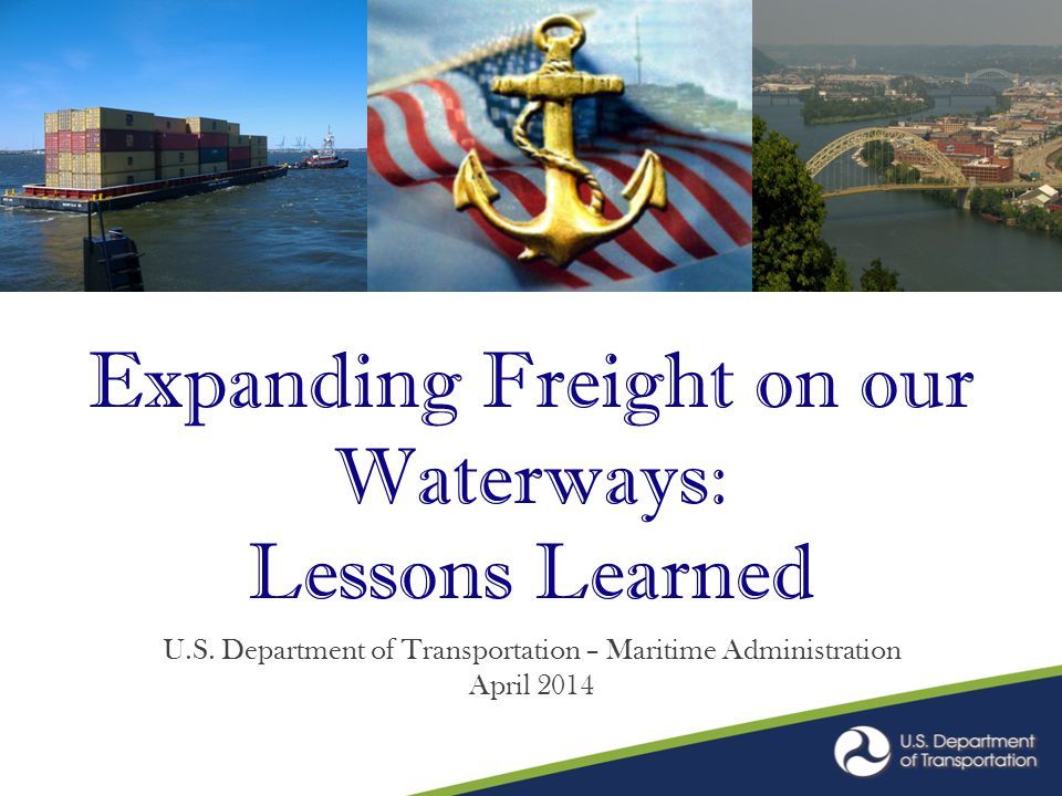 America's Marine Highways: From Concept to Reality.