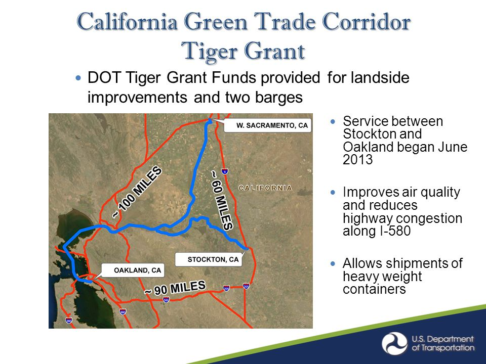 Tenn-Tom Waterway Pilot Project MARAD Marine Highway Grant Funds provided for landside container handling equipment Service between Mobile and Fulton to begin 2 nd Qtr 2014 Provides modal choice and an all water alternative versus east/west coasts to Memphis rail ramps.