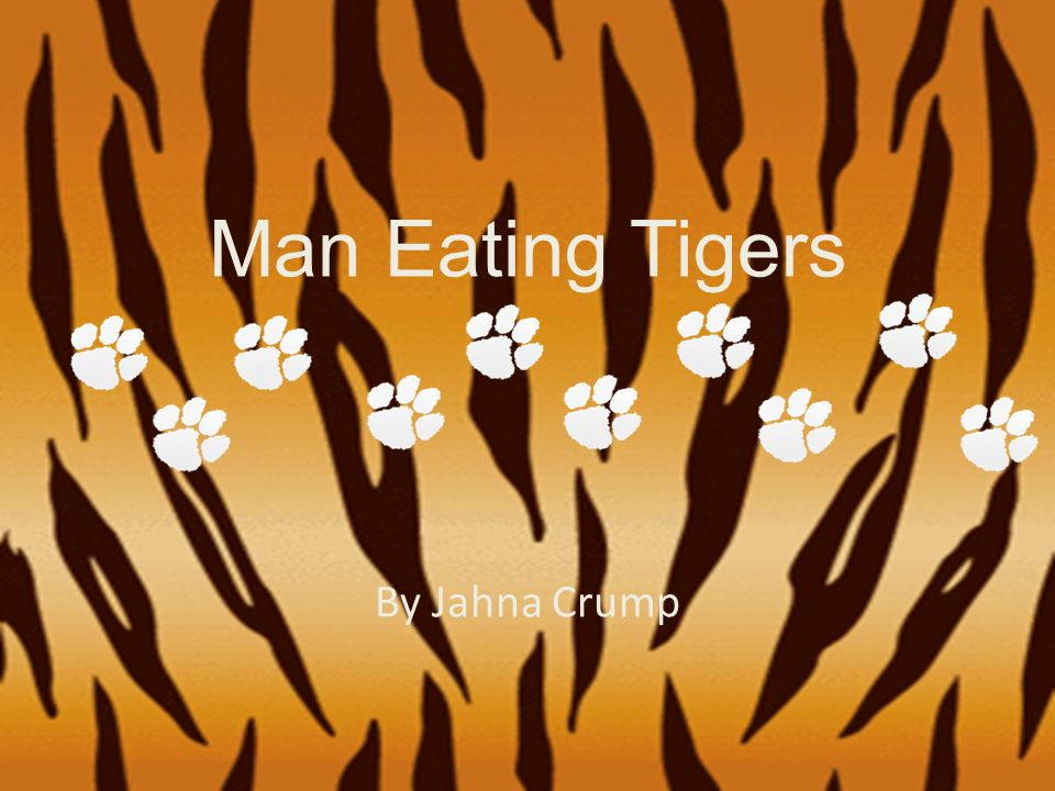 Man Eating Tigers By Jahna Crump