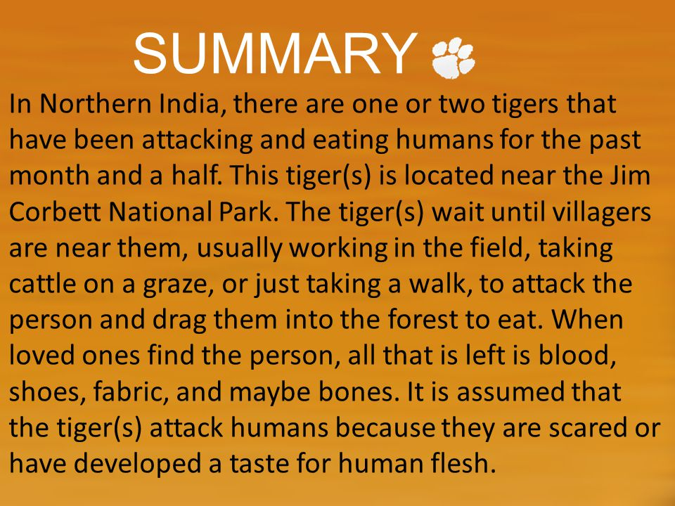 QUIZ!!.1) What Park is the tiger(s) located.