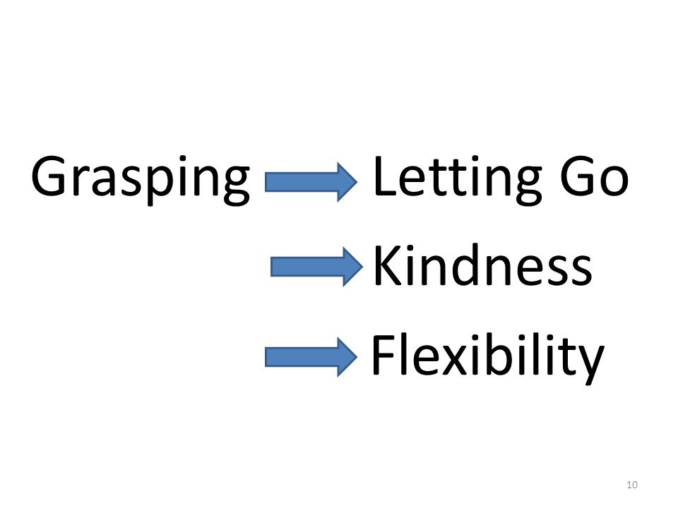 Grasping Letting Go Kindness Flexibility 10