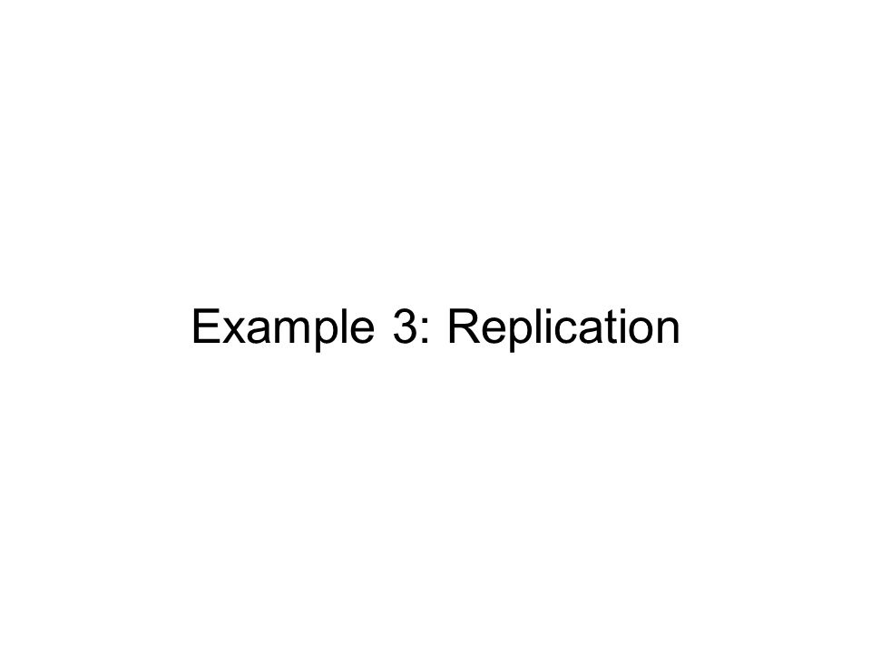 Example 3: Replication