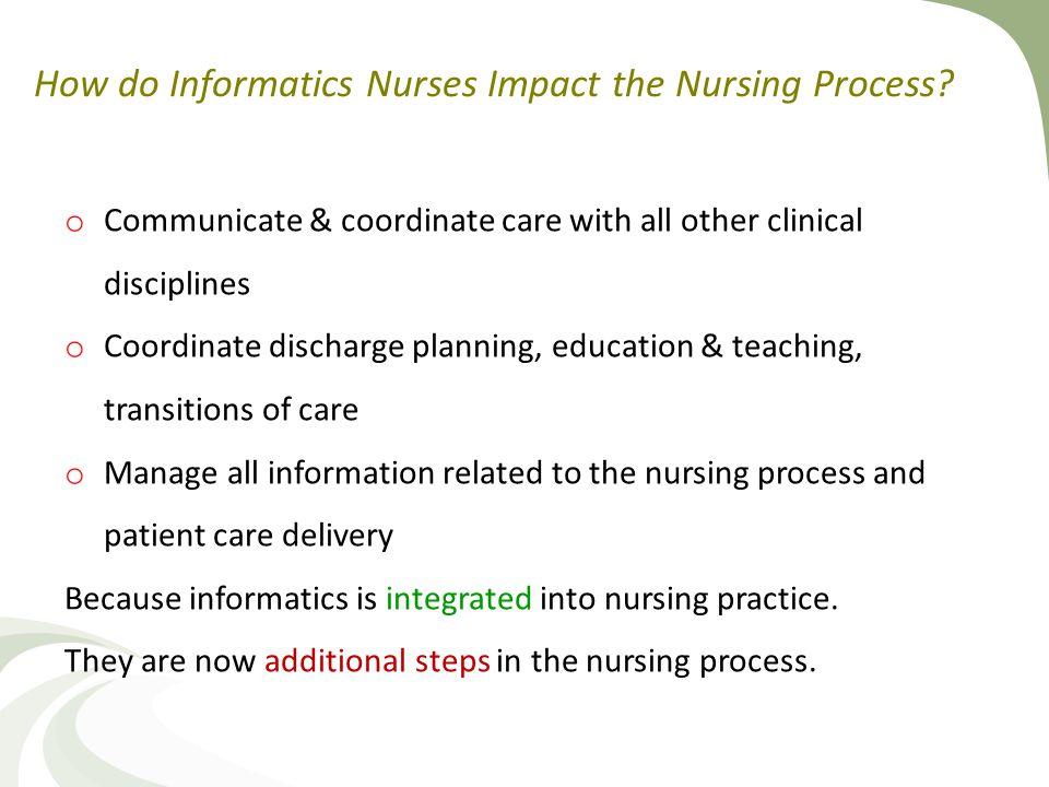 How do Informatics Nurses Impact the Nursing Process.
