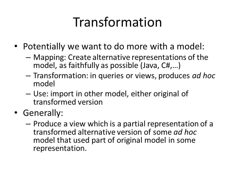 VO-URP Data model representations RDB: DDL + TAP schema XML schema UTYPES HTML doc Physical representation Java w.