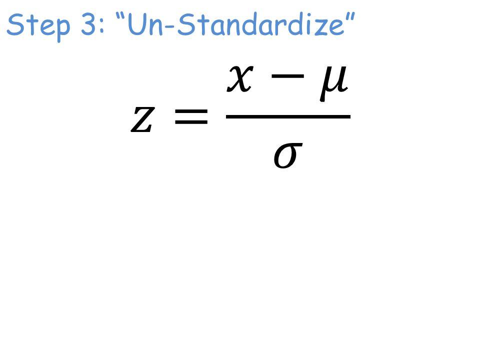Step 3: Un-Standardize