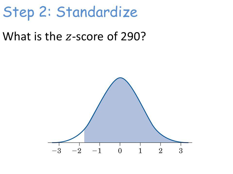 Step 2: Standardize