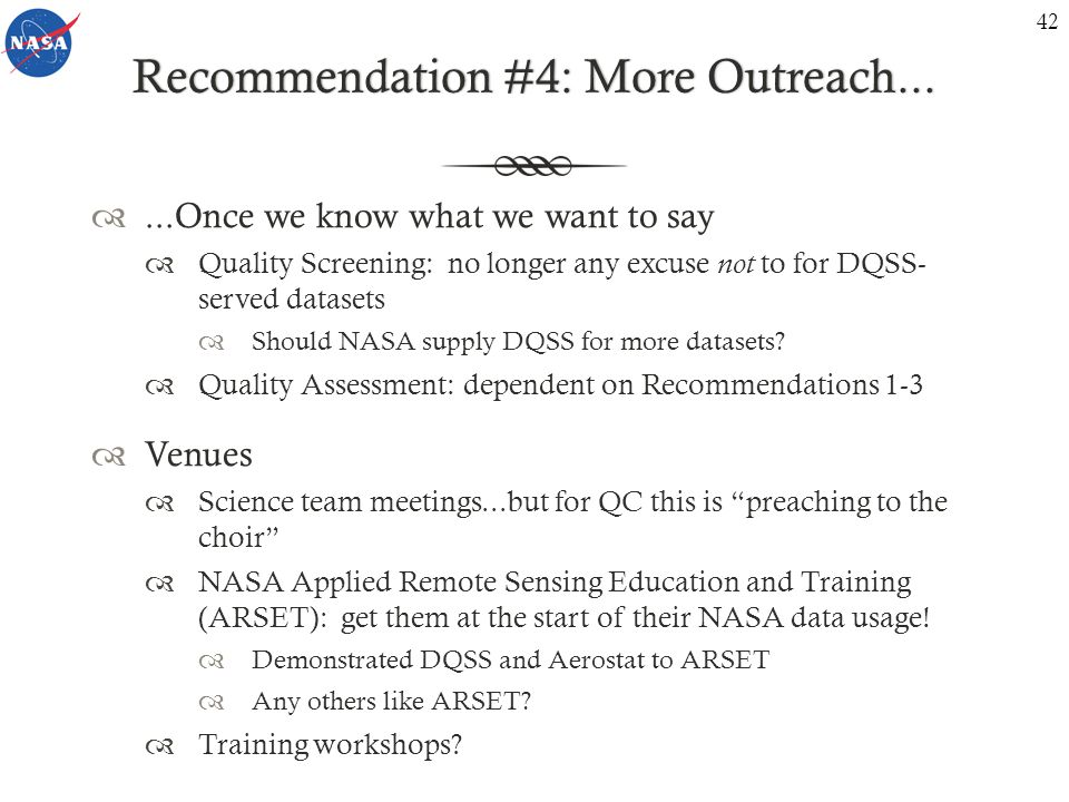 Recommendation #4: More Outreach...Recommendation #4: More Outreach...