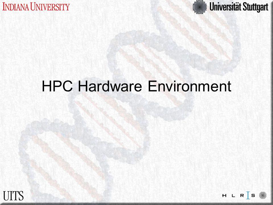 HPC Hardware Environment