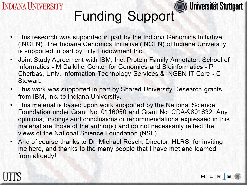 Funding Support This research was supported in part by the Indiana Genomics Initiative (INGEN). The Indiana Genomics Initiative (INGEN) of Indiana Uni