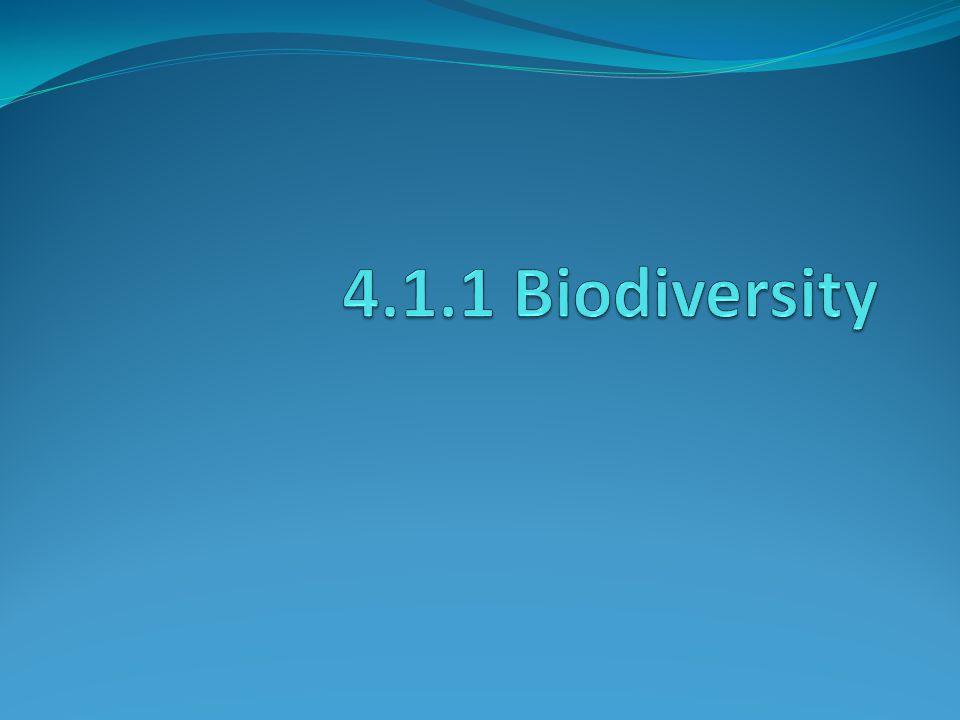 The amount of biological diversity per unit area.