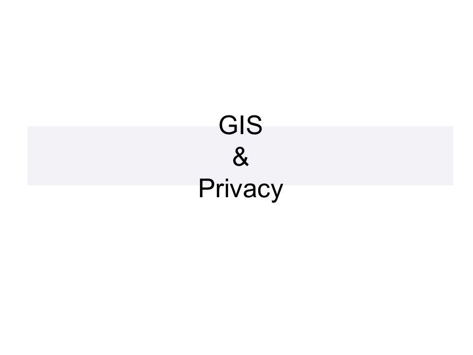 GIS & Privacy