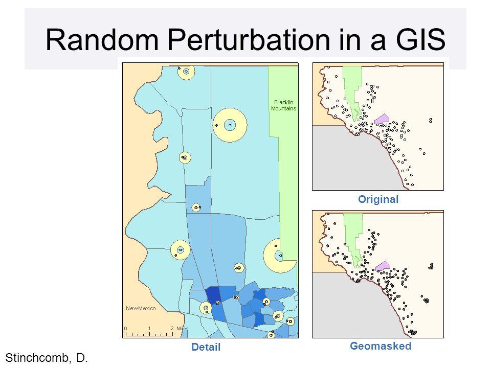 Random Perturbation in a GIS Detail Original Geomasked Stinchcomb, D.