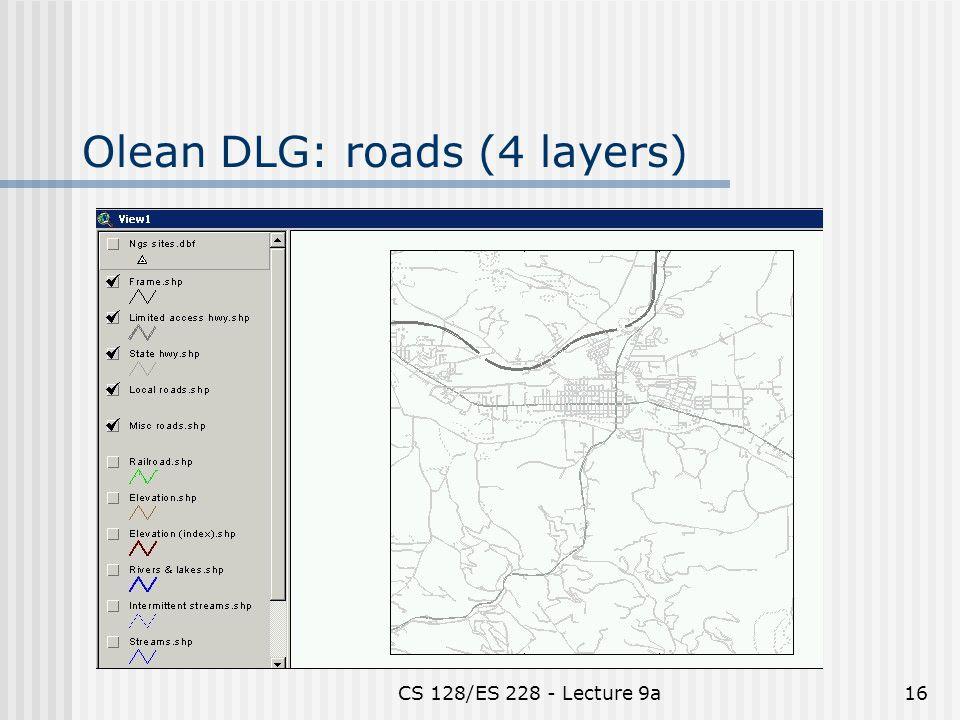 CS 128/ES 228 - Lecture 9a16 Olean DLG: roads (4 layers)