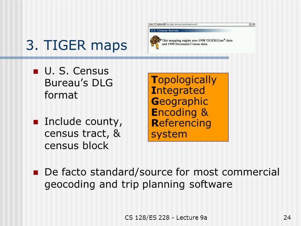CS 128/ES 228 - Lecture 9a24 3. TIGER maps U. S.