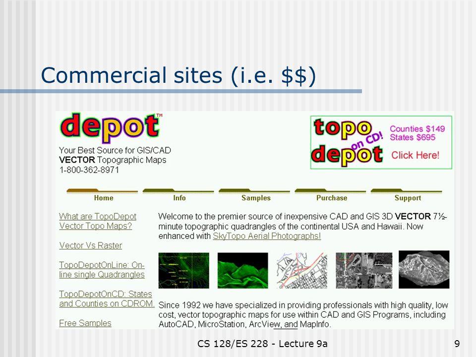 CS 128/ES 228 - Lecture 9a9 Commercial sites (i.e. $$)