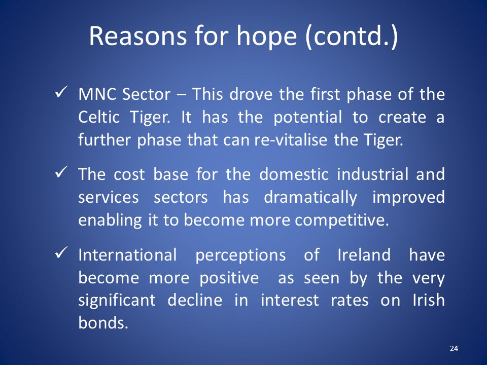 MNC Sector – This drove the first phase of the Celtic Tiger.