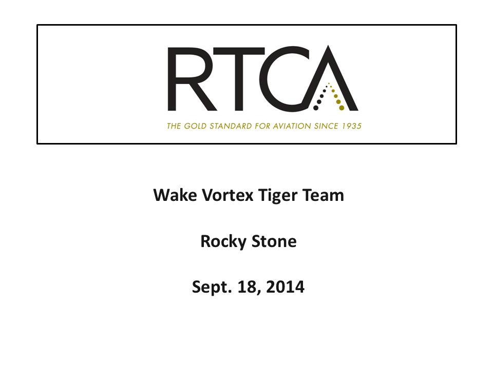 Wake Vortex Tiger Team Rocky Stone Sept. 18, 2014