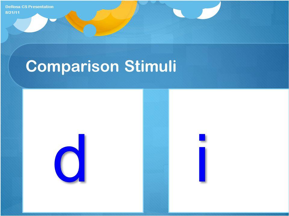 Comparison Stimuli DeRosa CS Presentation id 8/21/11