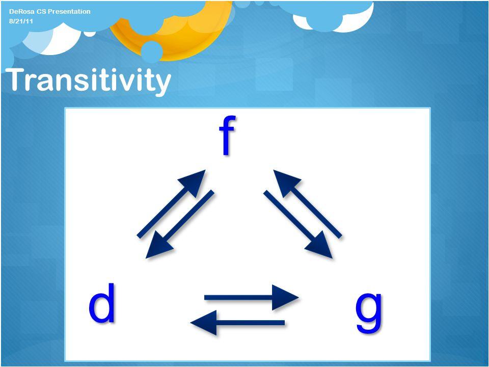 Transitivity f dg DeRosa CS Presentation 8/21/11