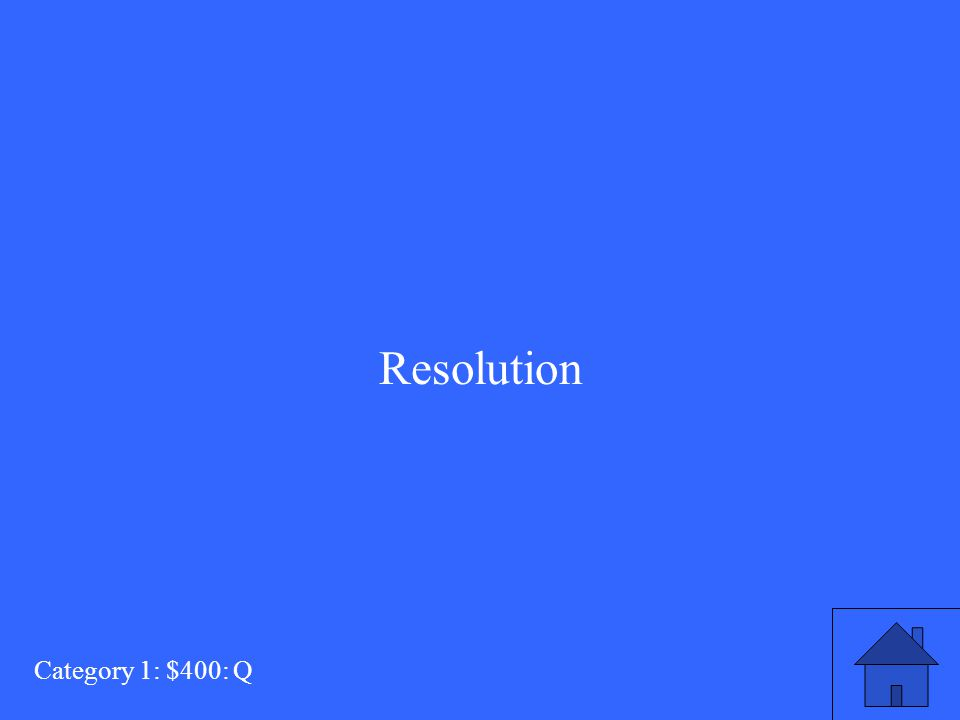 Resolution Category 1: $400: Q
