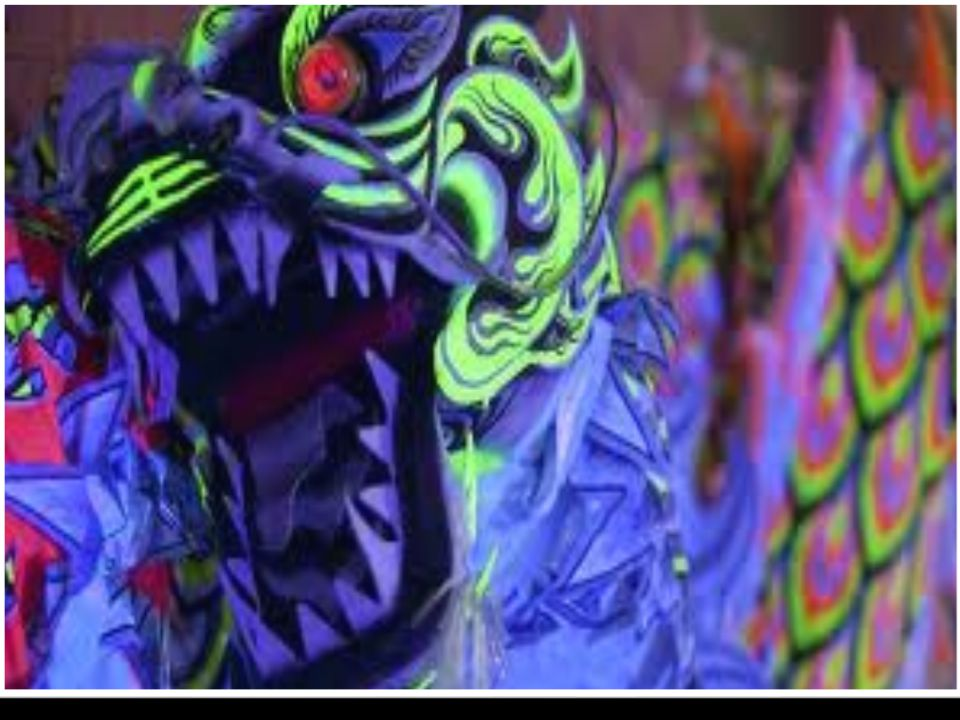 The Chinese dragon represents the emperors power over people in china.