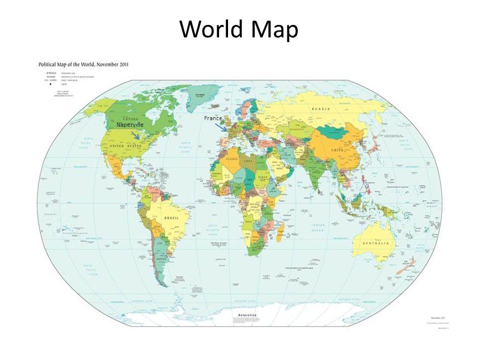 World Map France Naperville