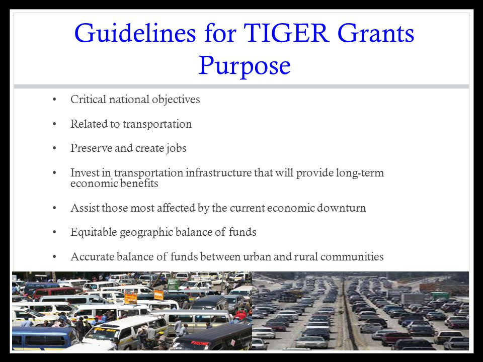 Issues with TIGER Grant Awards: Vague Metrics Part II Economic Competitiveness Internal confusion: Measuring jobs versus job-years: 1 job for 20 years is 20 job- years USDOT was supposed to use job-years but in referring to project cited 4000 jobs when they meant job-years instead of 467 temporary jobs Poor calculation methods: DOTs method did not consider inflation or pay raises leading to inflated number No analysis: Unclear how USDOT arrived at calculations