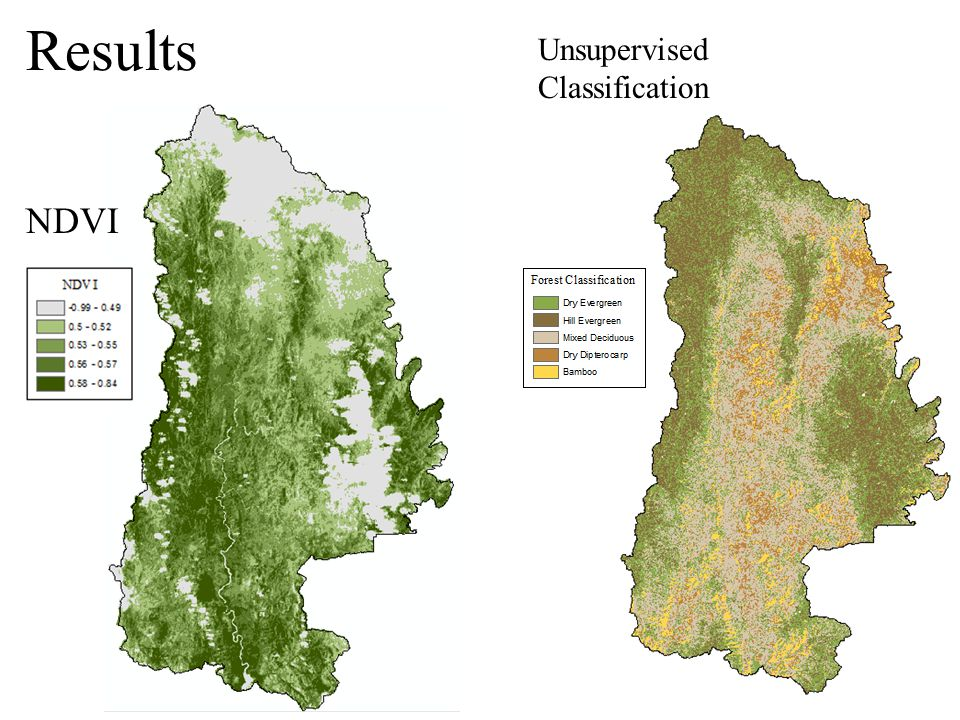 NDVI Results Unsupervised Classification