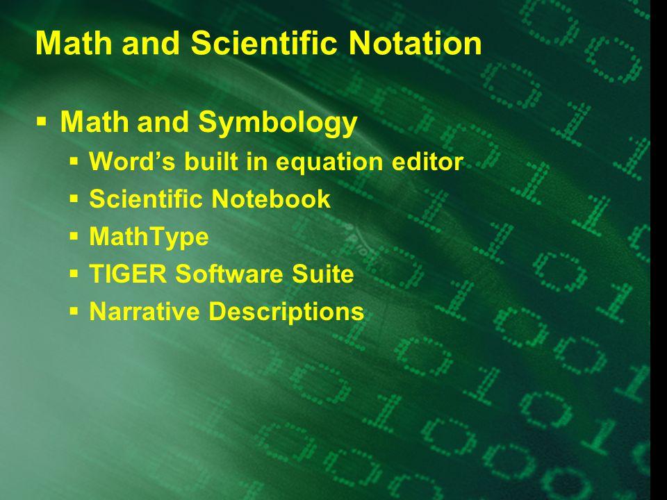Math Input Options  LaTeX  Keyboard Entry  ChattyInfty  MathTalk