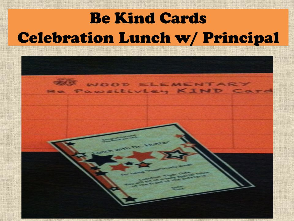 Be Kind Cards Celebration Lunch w/ Principal
