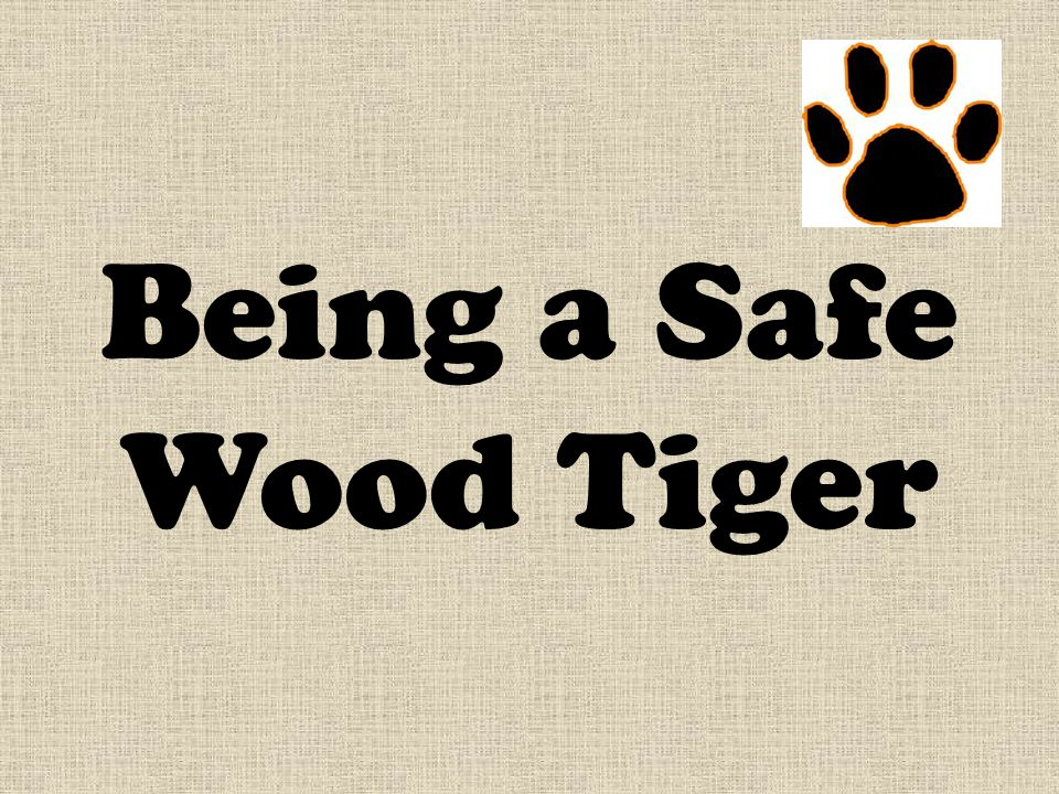 Being a Safe Wood Tiger