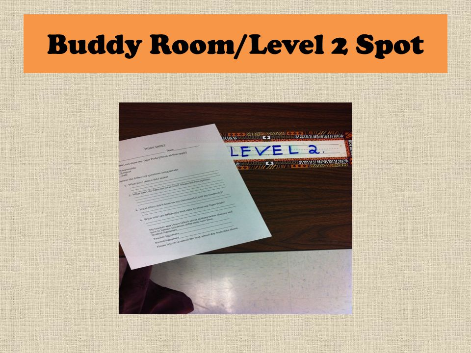 Buddy Room/Level 2 Spot
