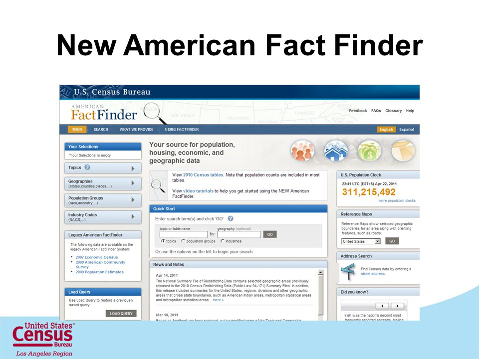New American Fact Finder