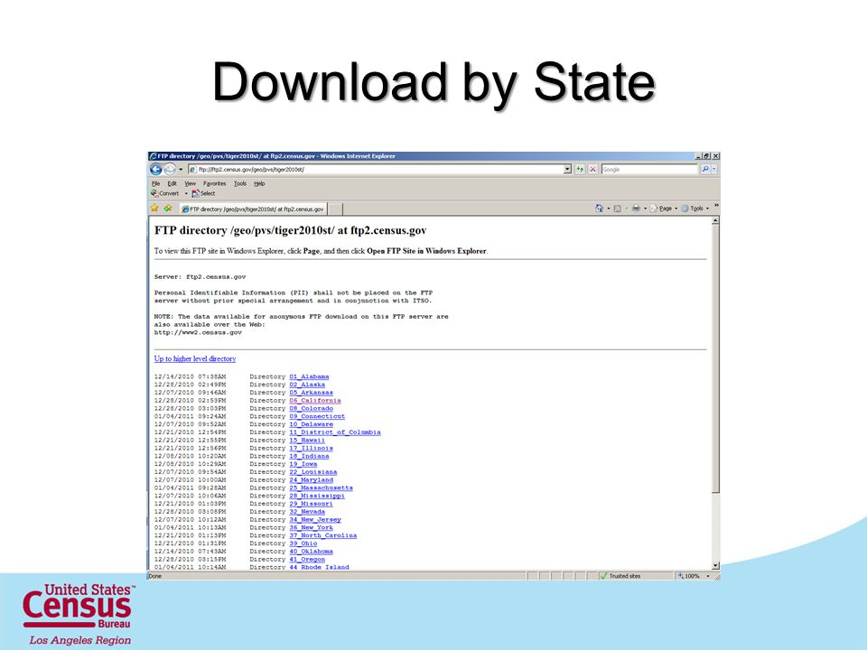 Download by State